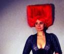 Black and red squares of Malevich on a head.
